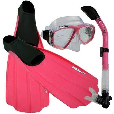 超安い シュノーケリングPromate Snorkeling Full Foot Fins Mask Snorkeling Dry Snorkel Mens, Gear Mask Set, Pink, 3-5 Mens, 4-6 WMNS, Luty:3a81cbf6 --- airmodconsu.dominiotemporario.com