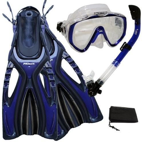 特価ブランド シュノーケリングPromate Mask Scuba Diving Fins Snorkeling Extra-Wide Mask Snorkel Fins Blue, Gear Set, Blue, S/M, オフィス家具店スギハラ:7127f21e --- airmodconsu.dominiotemporario.com