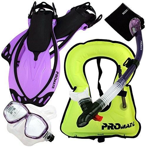 ベストセラー シュノーケリングPromate Combo 759001-Pur-SM Snorkeling Fins Vest Mask Snorkel Fins Combo Set Set, 山都町:b856df11 --- airmodconsu.dominiotemporario.com