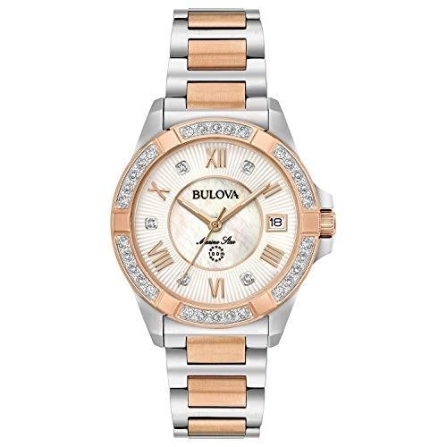 【好評にて期間延長】 当店1年保証 98R234) Stainless-Steel 16 ブローバBulova Women's Analog-Quartz Watch with Stainless-Steel Strap, Two Tone, 16 (Model: 98R234), クゼムラ:1c963095 --- airmodconsu.dominiotemporario.com