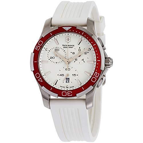 人気TOP 当店1年保証 ビクトリノックスVictorinox Swiss Army Women's 241504 Alliance White Chronograph Dial Watch, ヨシイチョウ c897fc84