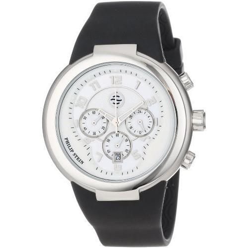 驚きの安さ 当店1年保証 フィリップ ステインPhilip Stein Unisex 32-AW-RBB Active White and Black Chronograph Rubber Strap Watch, 厨房用品のプロショップ ナガヨ 2c4bc4fe