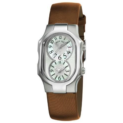 【格安saleスタート】 当店1年保証 フィリップ ステインPhilip Stein Women's 1-NFMOP-IBZ Signature Bronze Silk on Leather Strap Watch, カー用品ELS 411a659b