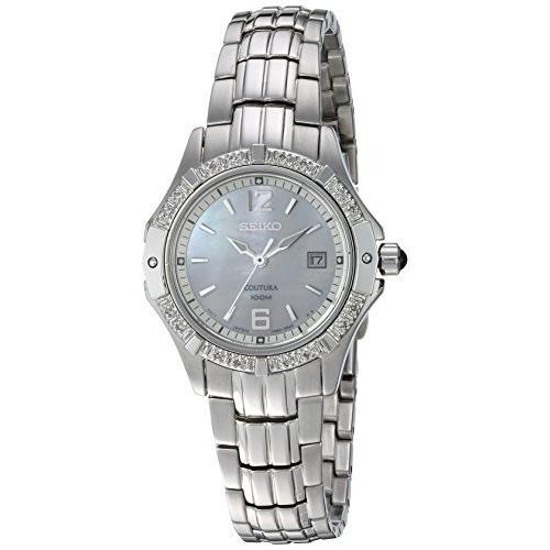 【超歓迎】 当店1年保証 セイコーSeiko Women's SXDE19 Quartz Stainless Steel Mother-Of-Pearl Dial Watch, e雑貨屋 31765774