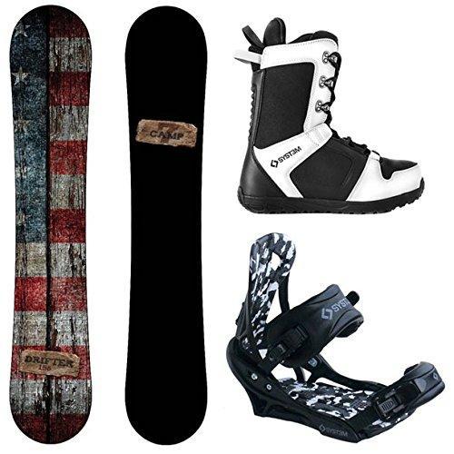 本物 スノーボードCamp Seven Drifter and Wide, APX Men's (163 Complete Snowboard Boot Package New (163 cm Wide, Boot Size 9), Twice:47f94183 --- airmodconsu.dominiotemporario.com