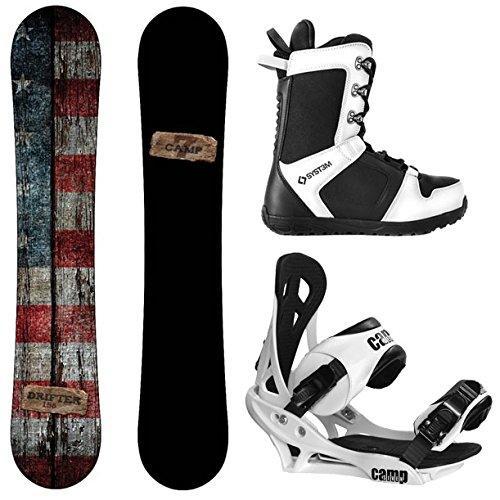 【2018最新作】 スノーボードCamp Seven (153 Drifter and Summit cm, Men's Complete Boot Snowboard Package New (153 cm, Boot Size 9), インノシマシ:fedaf541 --- airmodconsu.dominiotemporario.com