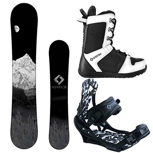 全国宅配無料 スノーボードSystem MTN and APX Complete Men's Snowboard Package (144 cm, Boot Size 11), ミタスニーカーズ fba0986e