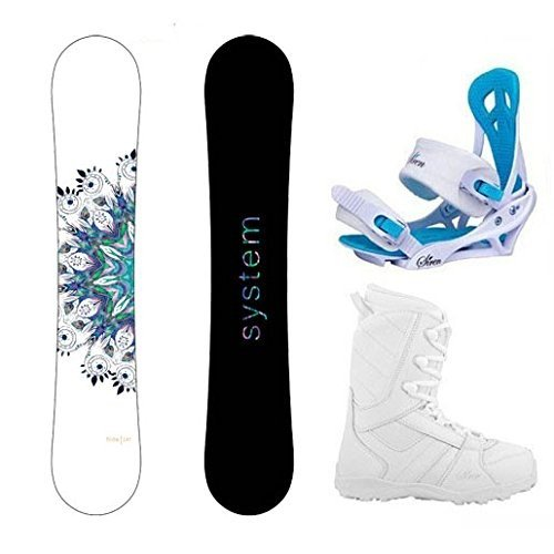 【おすすめ】 スノーボードSystem Package Snowboard Flite Women's Snowboard-143 cm-Siren Package Mystic Bindings-Siren Lux Boots-6 Women's Snowboard Boots-6, フタバグン:fc0ea4e3 --- airmodconsu.dominiotemporario.com