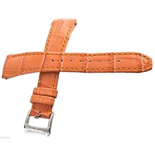 おすすめ 当店1年保証 レイモンドウィルGenuine Raymond Weil 18mm Orange Leather Watch Band Strap, ベビー子供服のクリップ 45b00d38