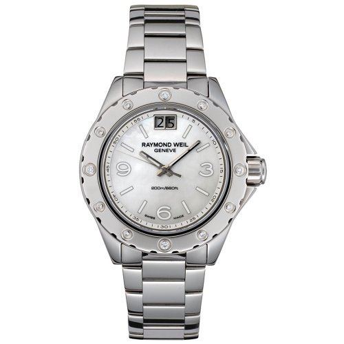 大人気新品 当店1年保証 Watch レイモンドウィルRaymond Weil Weil Women's 6170-ST-05997 Spirit Diamond Diamond Accented Stainless Steel Watch, オオシマチョウ:03373d31 --- airmodconsu.dominiotemporario.com