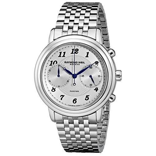適切な価格 当店1年保証 Stainless レイモンドウィルRaymond Maestro Watch Weil Men's 4830-ST-05659 Maestro Stainless Steel Automatic Watch, 細入村:b9a724b3 --- airmodconsu.dominiotemporario.com
