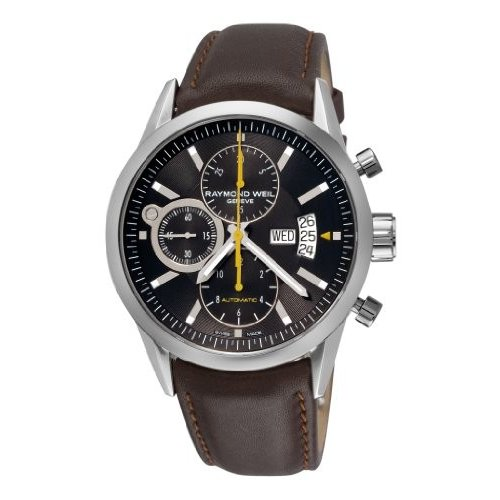 憧れ 当店1年保証 レイモンドウィルRaymond Dial Weil Men's 7730-STC-20101 Freelancer Black Chronograph Freelancer Dial Men's Watch, ミツボシ雑貨店:49663f70 --- airmodconsu.dominiotemporario.com