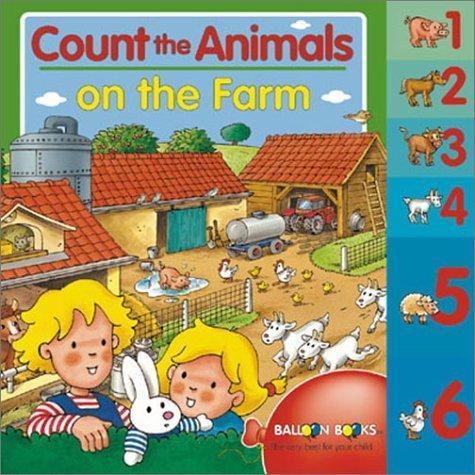 海外製絵本 知育 英語 Count the Animals on the Farm (Balloon)