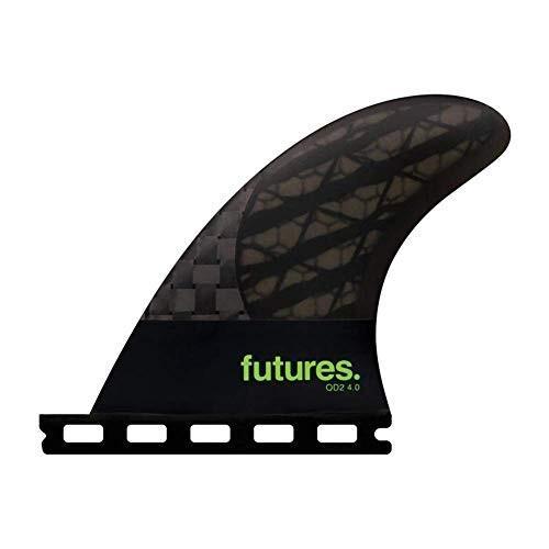 【超お買い得!】 サーフィンFutures Qd2 40 8020 Blackstix 30 Fin Medium Smoke/Light Green, フジバンビ 3a365f27