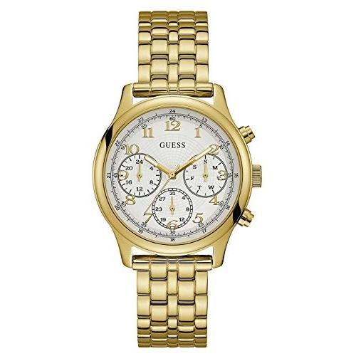 【おまけ付】 当店1年保証 ゲスGuess Women's U1018L2 Gold Stainless-Steel Japanese Quartz Fashion Watch, イジュウインチョウ 7b47300c
