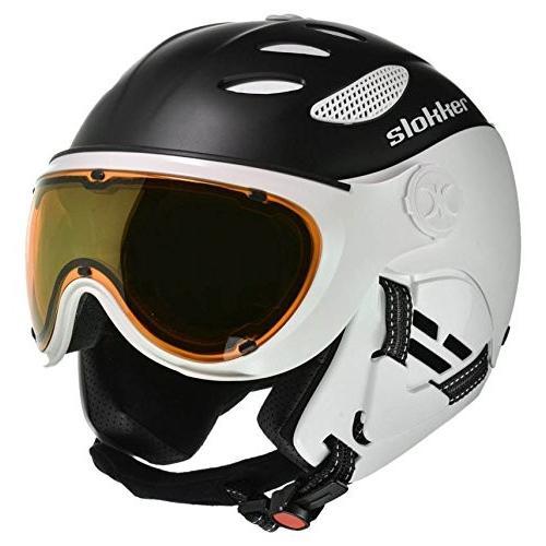驚きの価格が実現! スノーボードSlokker Balo Helmet 55-57 - Black Helmet/White Balo - 55-57, ハイテクインターダイレクト:9841331a --- airmodconsu.dominiotemporario.com
