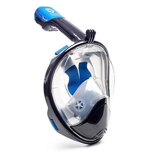 雑誌で紹介された シュノーケリングSeaview 180° GoPro Compatible Snorkel Mask- Panoramic Full Face Design. See More With Larger Viewing Area, クロサワ楽器池袋店 Wavehouse 310c37f7