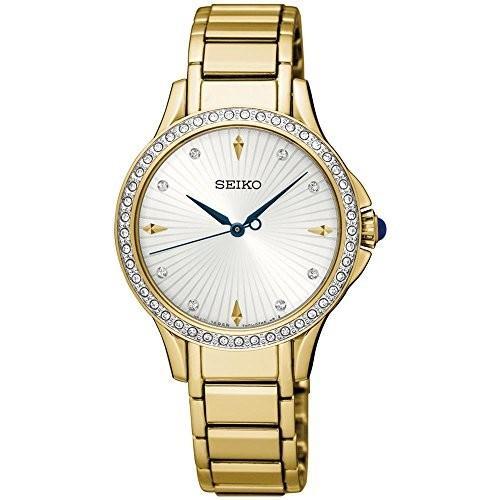 大切な 当店1年保証 セイコーSeiko Women's Women's Strap, セイコーSeiko Quartz Watch with Stainless Steel Strap, Gold, 14 (Model: Quarz Damen), 100%本物保証!:22d56094 --- airmodconsu.dominiotemporario.com
