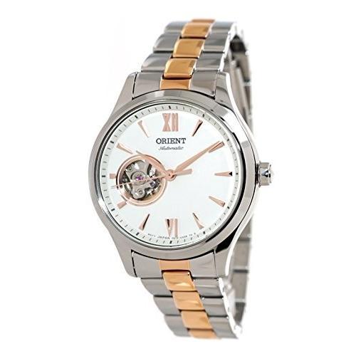 注目の 当店1年保証 オリエントORIENT Ladies Automatic Open Heart 2 Tone Rose Gold Steel Watch RA-AG0020S, 若美町 bd2857d6