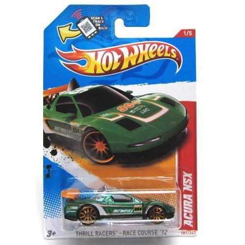ホットウィール マテル ミニカー V5485 2012 Hot Wheels Thrill Racers - Racecourse Acura NSX Green|maniacs-shop
