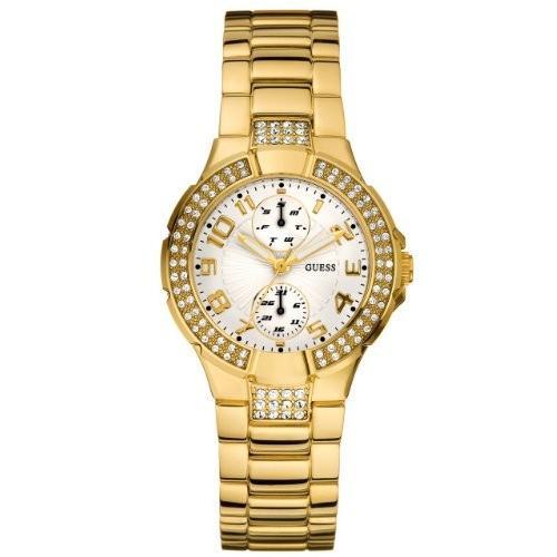 お気にいる 当店1年保証 ゲスGuess LGuess Women's U13002L1 Gold Gold Tone Stainles-Steel Quartz Watch with White Dial, 動産百貨店 0888d470