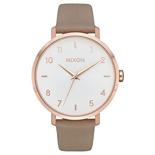 【完売】  当店1年保証 ニクソンNIXON Arrow Leather Arrow Watch A1091 - Rose Gold/Gray (38mm - 50m Water Resistant Women's Analog Classic Watch (38mm, センチョウマチ:256851ee --- airmodconsu.dominiotemporario.com