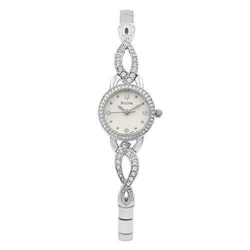 贅沢 当店1年保証 ブローバBulova Crystal Women's Quartz Watch 96X119, 稲垣村 959aae84
