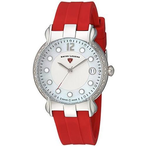 贅沢屋の 当店1年保証 スイスレジェンドSwiss Women's Legend Women's red, Layla Stainless Steel Swiss-Quartz Swiss-Quartz Watch with Silicone Strap, red,, ハンドメイドのお店preser:8e4295a5 --- airmodconsu.dominiotemporario.com