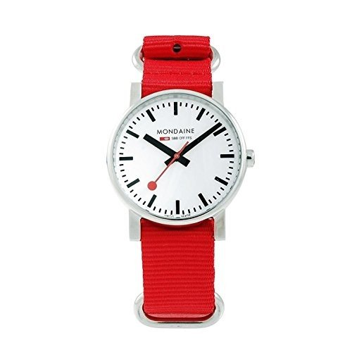 大人気新作 当店1年保証 Red モンディーンMondaine Women's A658.30300.11SNC Swiss Quartz Red Nylon Strap Swiss Women's Watch, 東京レッドチェリー:e424b21a --- airmodconsu.dominiotemporario.com