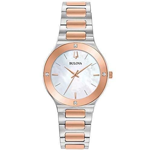 【在庫一掃】 当店1年保証 ブローバBulova 98R274 Futuro Women's Watch Silver/Rose Gold 32mm Stainless Steel, 【大きいサイズのボトムス屋さん】 738e6edb