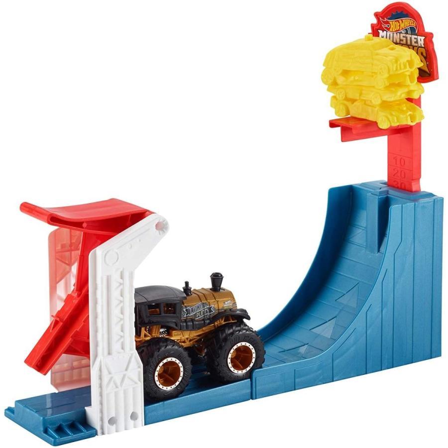 ホットウィール マテル ミニカー GCG00 Hot Wheels Monster Trucks Big AIR Breakout Play Set|maniacs-shop|02
