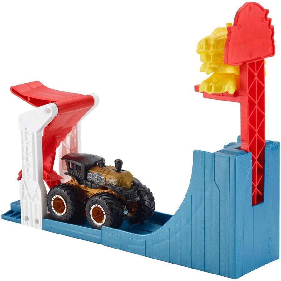 ホットウィール マテル ミニカー GCG00 Hot Wheels Monster Trucks Big AIR Breakout Play Set|maniacs-shop|03