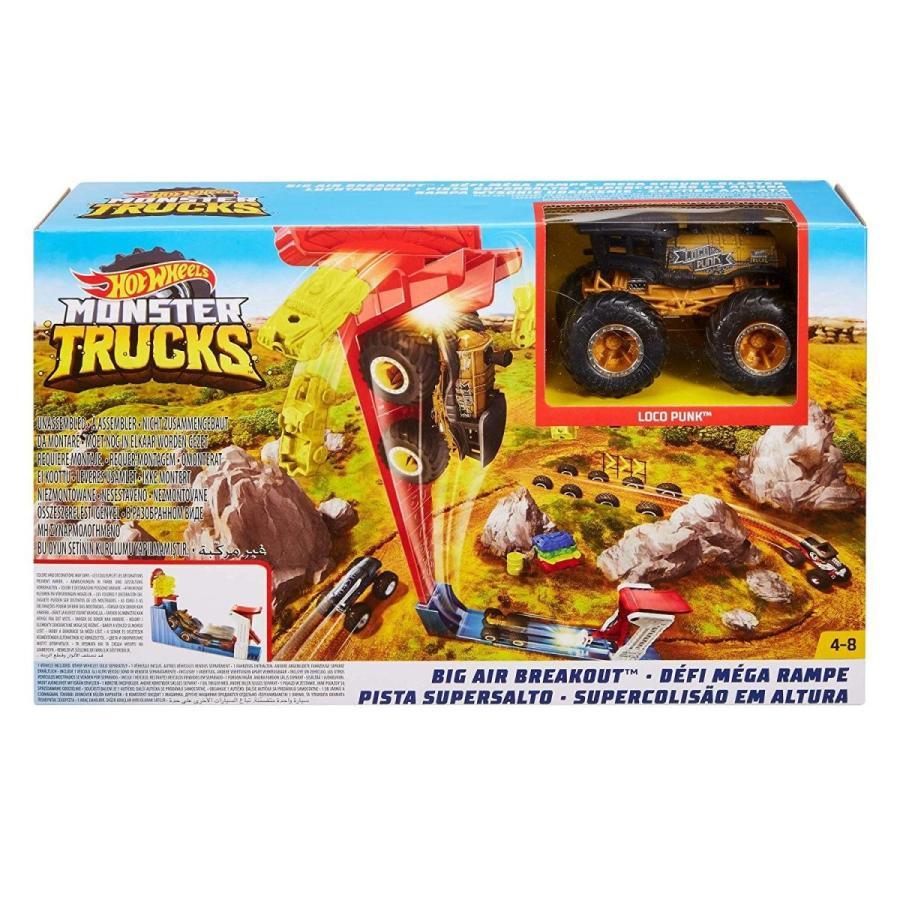 ホットウィール マテル ミニカー GCG00 Hot Wheels Monster Trucks Big AIR Breakout Play Set|maniacs-shop|04