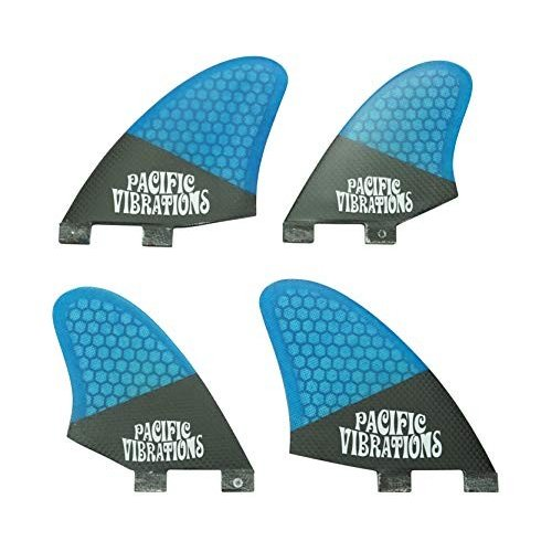 最新発見 サーフィンPacific Vibrations FCS Carbon Quad KEEL Fins Surfboard 4 fin Set Fiberglass Blue Honeycomb, 山崎町 43d17086