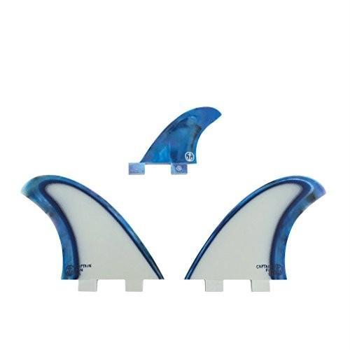 最終値下げ サーフィンCaptain Fin Co. CF-Twin Acid Splash Surfboard Fins - 3 Fin Set - Twin Tab - Blue, 男の台所 9374a03c