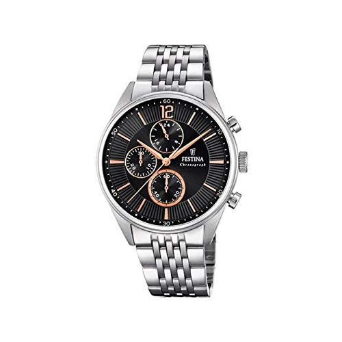 『4年保証』 当店1年保証 フェスティナFESTINA Watch Timeless Male Chronograph Black - F20285-6, peyton bff943a7