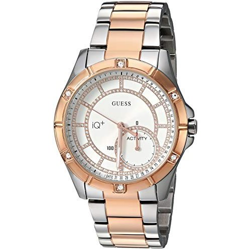 【格安saleスタート】 当店1年保証 ゲスGUESS Women's Connect Fitness Quartz Watch with Stainless-Steel Strap, Two Tone, 18 (Model: C2002L3), ミヤギノク 18aa2329