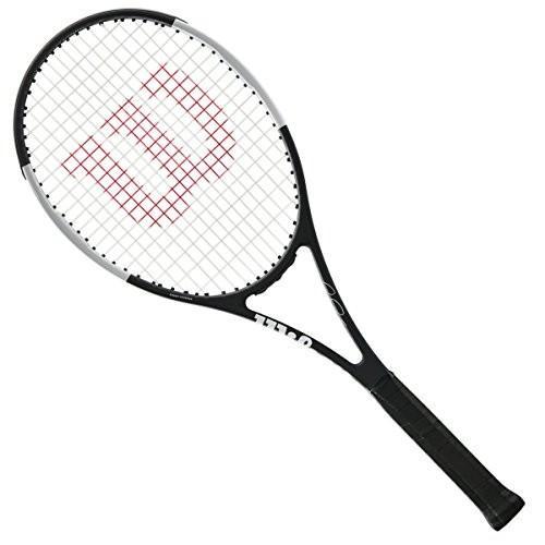 豪華で新しい テニスWilson Pro Staff RF 97 Federer Autograph - Black/White Tuxedo Model - Quality String (4-1/4), カーパーツケミカル Good Speed e1d0b249