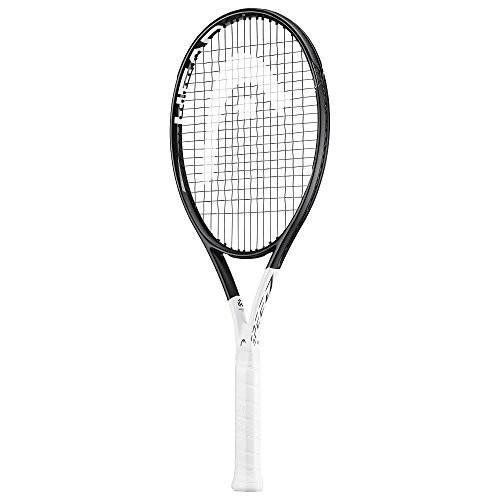 上品 テニスHEAD Graphene 360 Strung Speed Grip) S Midplus 16x19 String Black/White Tennis Racquet (4 1/2