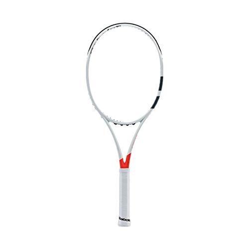 数量は多い  テニスBabolat 2017 Pure Strike 16x19 Silver/Orange Tennis Racquet (4 1/8
