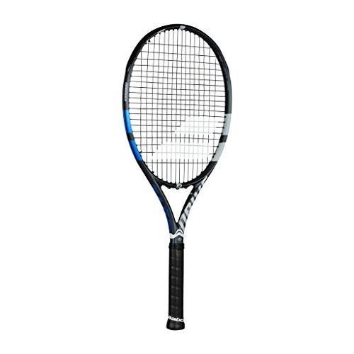 買得 テニスBabolat Drive Drive G 115 Oversized (Po and Extended Black/Blue String/Grey Tennis Racquet (4 3/8