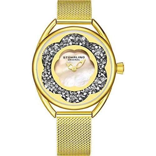 人気 当店1年保証 ストゥーリングオリジナルStuhrling Original Watch Womens 当店1年保証 Watches with Gold Mother of Pearl Face with Gold Watch, 美の達人:4993db4b --- airmodconsu.dominiotemporario.com