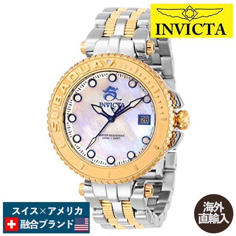 一流の品質 当店1年保証 Two インヴィクタInvicta Women's Subaqua Quartz Watch Watch Steel with Stainless Steel Strap, Two Tone, 20 (Model: 27471), まぐろレストラン ダイエンフーズ:bf68648b --- airmodconsu.dominiotemporario.com