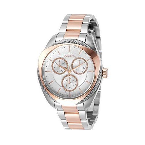 良質  当店1年保証 インヴィクタInvicta Two Women's Steel Bolt Quartz Watch with Stainless Tone Steel Strap, Two Tone Rose Gold, 18 (Model:, CREO:2da7b512 --- airmodconsu.dominiotemporario.com