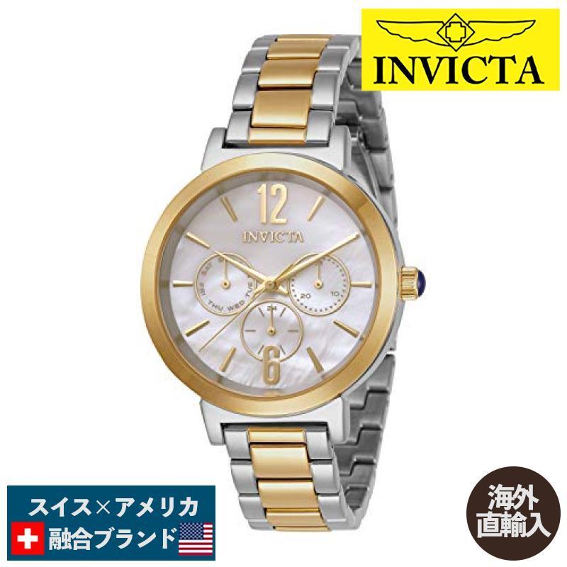 低価格 当店1年保証 インヴィクタInvicta Women's Angel Quartz Watch with Stainless Steel Strap, Two Tone, 15 (Model: 31086), 文房具屋フジオカ文具e-stationery 7344eede