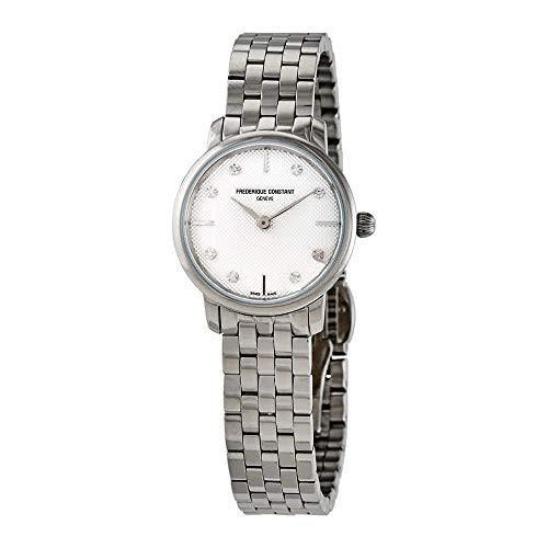 ブランド品専門の 当店1年保証 フレデリックコンスタントFrederique Constant Slimline Quartz Diamond White Dial Ladies Watch FC-200S, 木のおもちゃB.B.SHOP ea7c1cae