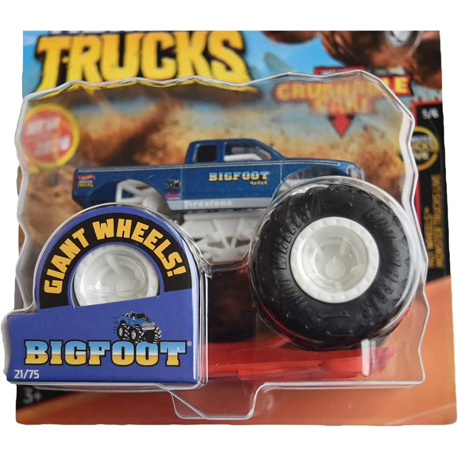 ホットウィール マテル ミニカー GJF02 Hot Wheels Monster Trucks 1:64 Scale Bigfoot 21/75 Crushabl|maniacs-shop|02