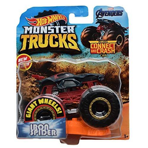 ホットウィール マテル ミニカー ggr61 Hot Wheels Monster Trucks 1:64 Scale Iron Spider Connect an maniacs-shop