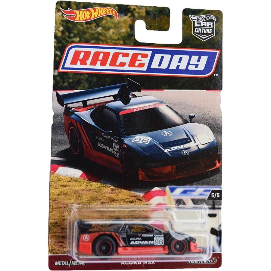 ホットウィール マテル ミニカー dwh79 Hot Wheels Car Culture Race Day Acura NSX 5/5, Black/red|maniacs-shop
