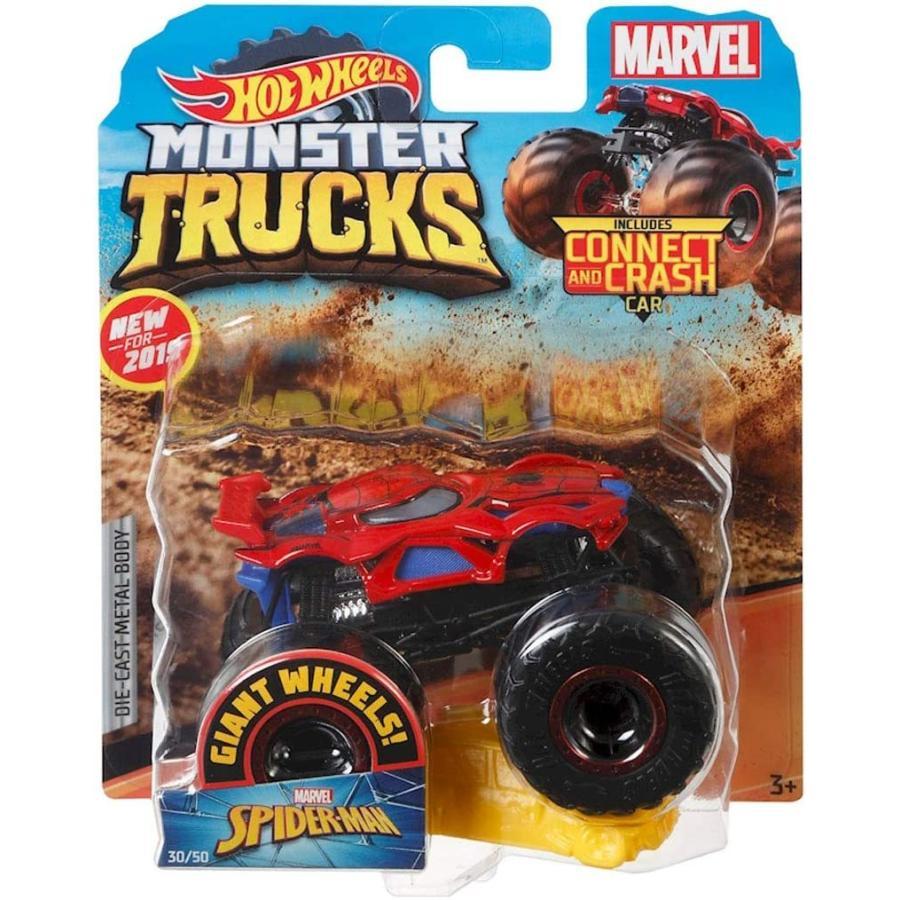 ホットウィール マテル ミニカー GBT33 Hot Wheels Monster Trucks Spider-Man Character Vehicle - Co|maniacs-shop